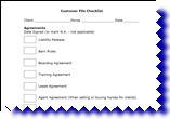 Equestrian Customer File Checklist